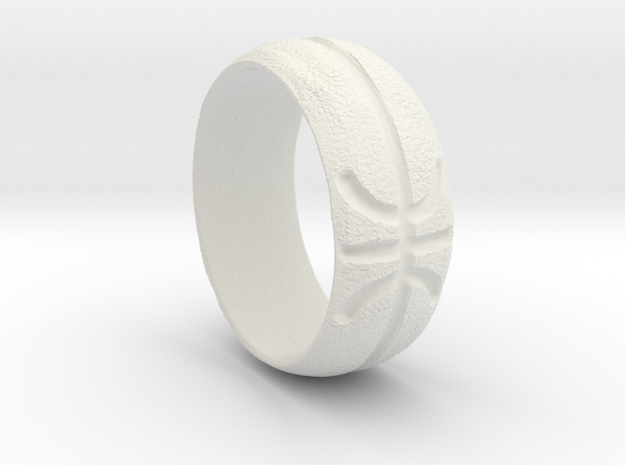 Basketball Ring in White Natural Versatile Plastic: Extra Small