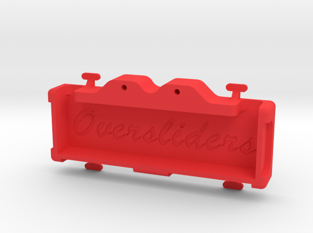MST SHORTY REAR TRAY in Red Processed Versatile Plastic