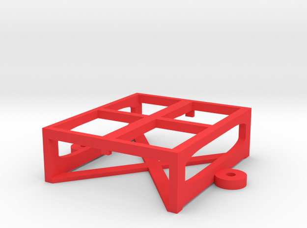 TRANSPONDER HOLDER 1.2 in Red Processed Versatile Plastic