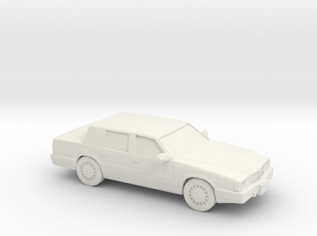 1/24 1993 Chrysler Dynasty in White Natural Versatile Plastic