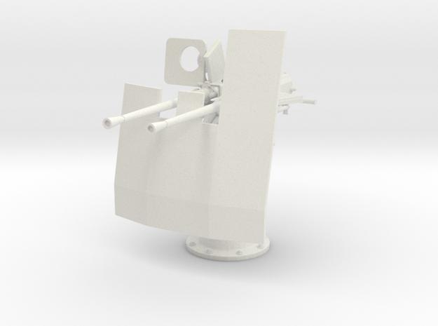 1/11 DKM Double 20mm C/30 Flak w. Shield in White Strong & Flexible
