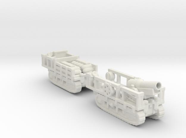 st chamond Mortier 280mm TR ww1 1/72 artillery  in White Natural Versatile Plastic