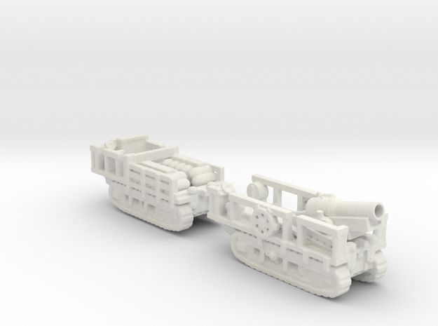 st chamond Mortier 280mm TR ww1 1/100 artillery  in White Natural Versatile Plastic