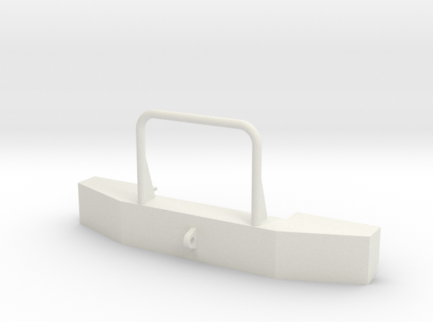 C500 Heavy Hauler Front Bumper V2 in White Natural Versatile Plastic