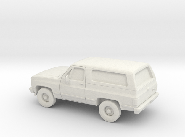1/87 1989-91 GMC Jimmy in White Natural Versatile Plastic
