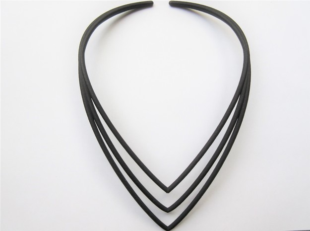 Modern V Necklace in Black Strong & Flexible