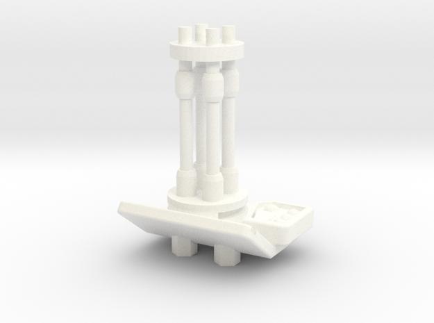 Turret Burst Cannon in White Processed Versatile Plastic