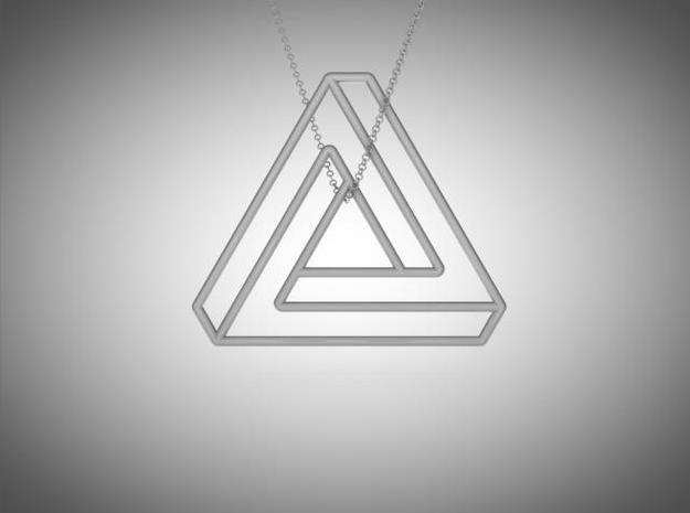 Impossible triangle pendant  3d printed