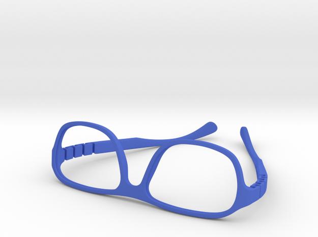 VirtualTryOn.fr Lunettes / Glasses : Steve v2 in Blue Processed Versatile Plastic