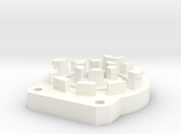 Graflex2.0 Add On - Crystal LED Holder in White Processed Versatile Plastic