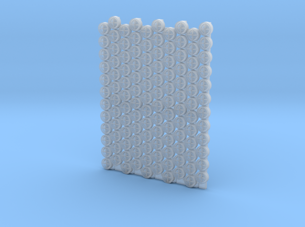 4804 - 1/48'+' type padeyes, closed bottom, 120pc in Smooth Fine Detail Plastic