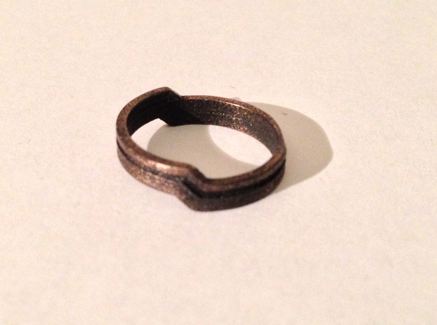Channel Ring in Fine Detail Polished Silver