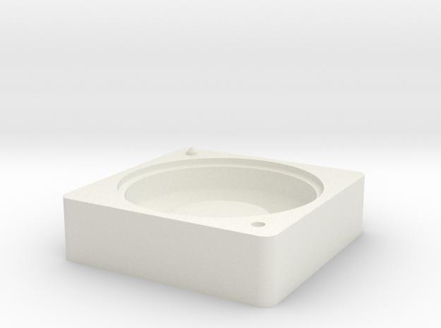 Mold Bottom in White Natural Versatile Plastic