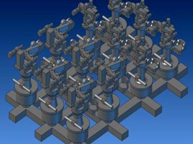 1:200 6x110cmSearchLightController 6xSecondaryGunD in Smooth Fine Detail Plastic