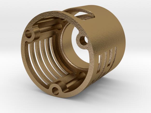 Graflex led holder Metal v1 in Polished Gold Steel