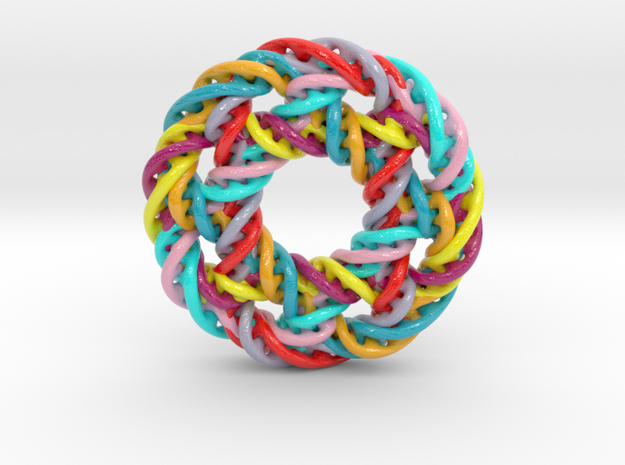 circular 2 in Glossy Full Color Sandstone