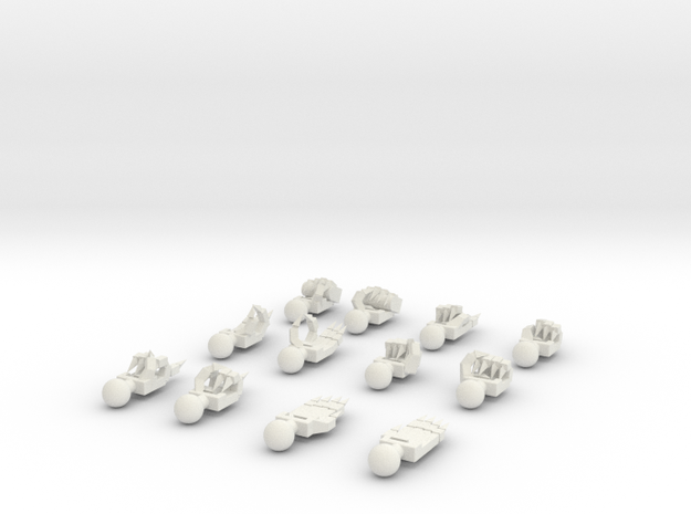 HGIBO Hands Claws in White Natural Versatile Plastic