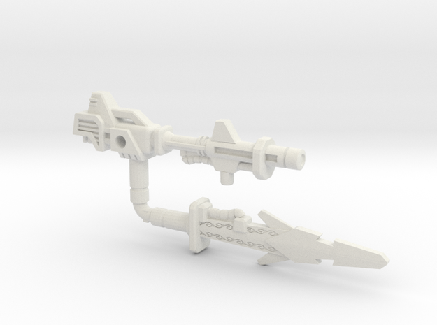 Metalhawk / Vector Prime Weapons (3mm, 5mm) in White Natural Versatile Plastic: Small