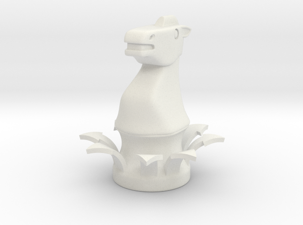 Instructional Chess Set - Knight in White Natural Versatile Plastic: Small