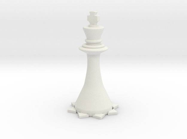 Instructional Chess Set - King in White Natural Versatile Plastic: Small