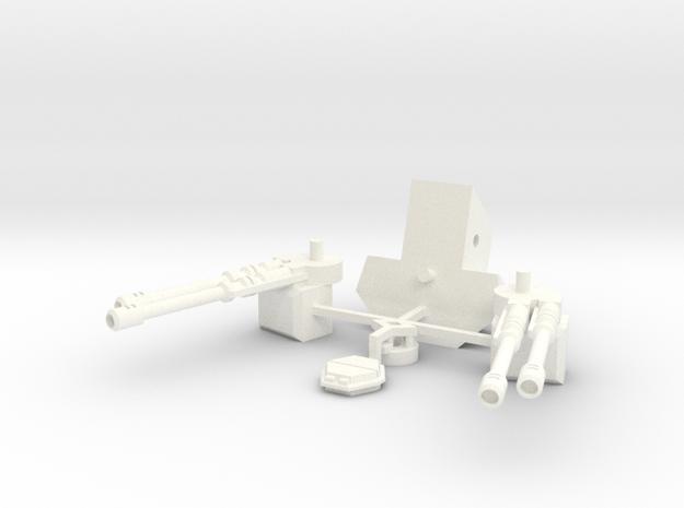 Chimerax Turret in White Processed Versatile Plastic