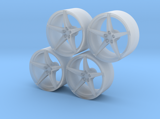 Set_16M Wheel in Smooth Fine Detail Plastic