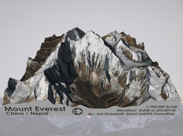 "Mount Everest: 6""x6"" in Glossy Full Color Sandstone"
