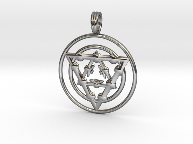 TARGET ENERGY in Fine Detail Polished Silver