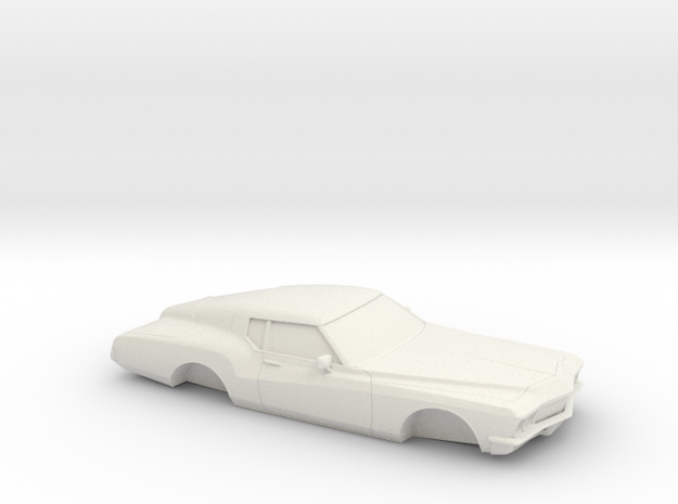 1/32 1971-73 Buick Riviera Shell in White Natural Versatile Plastic