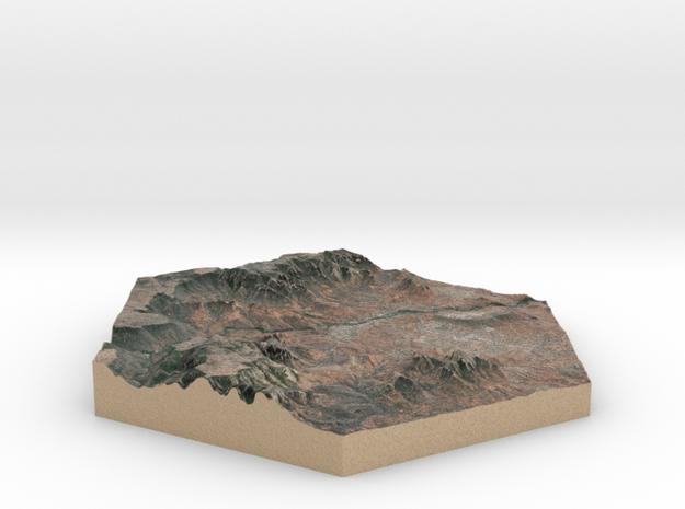 Model of Sedona, AZ (10cm, Full-Color) in Full Color Sandstone