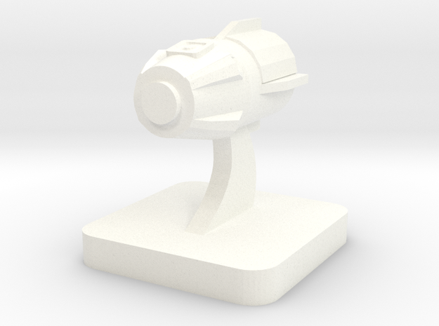 Mini Space Program, Crew Dragon in White Processed Versatile Plastic