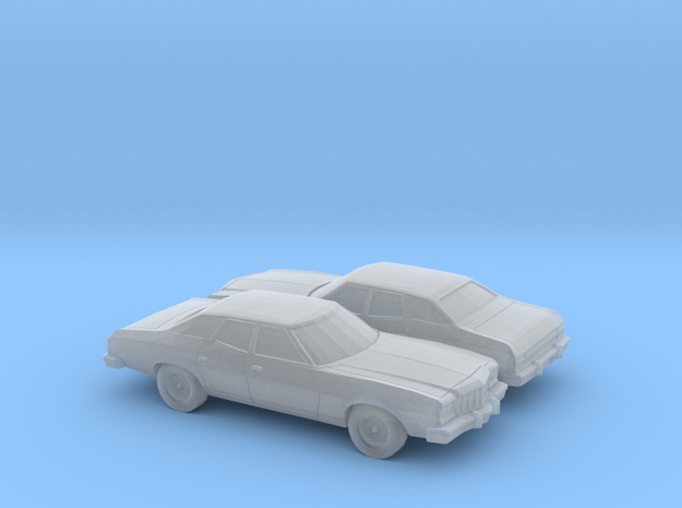1/220 2X 1974-76 Ford Gran Torino Sedan in Frosted Ultra Detail