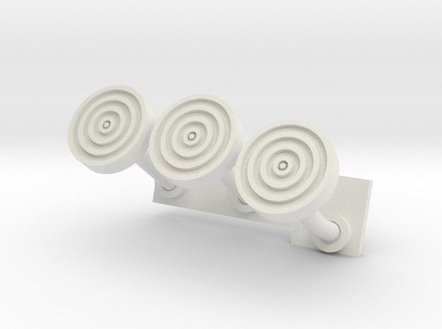 1:12 Airfix Austin A35 Van Gas Brake Clutch Pedals in White Natural Versatile Plastic