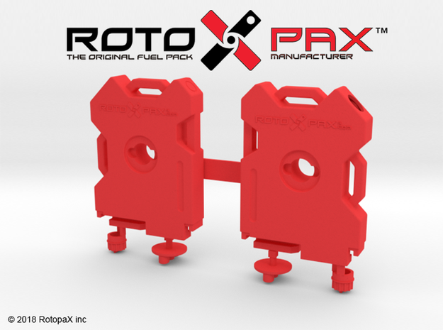 TR10016 TRX-4 RotopaX door mount RED in Red Strong & Flexible Polished