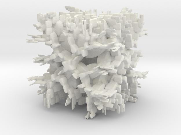 Offshoots in White Natural Versatile Plastic: Medium