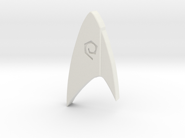 Star Trek Discovery Operations badge in White Natural Versatile Plastic
