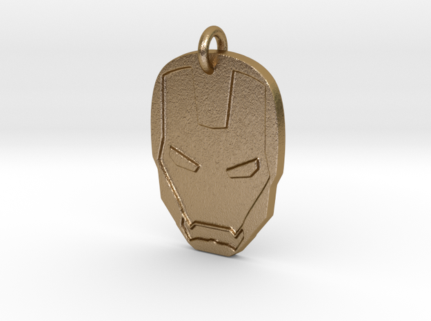 Marvel - Iron Man (Pendant) in Polished Gold Steel