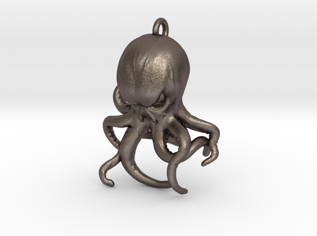 Cthulhu Bottle Opener in Polished Bronzed Silver Steel