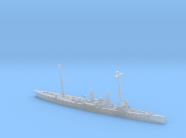 SMS Komet 1/1200 (with mast) in Smooth Fine Detail Plastic