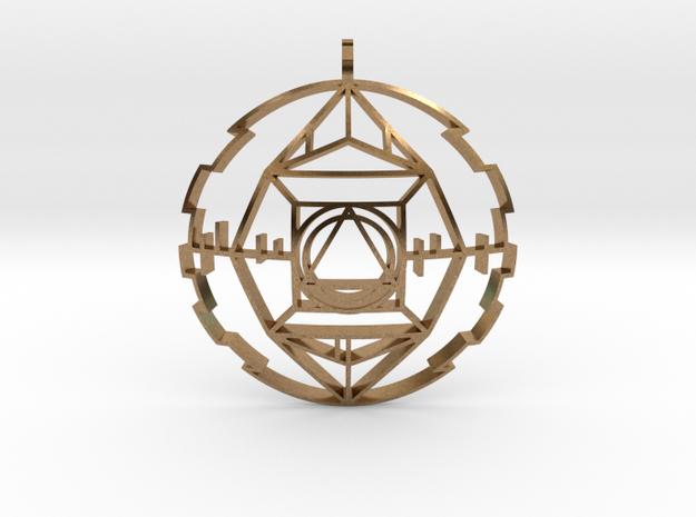 Golden Potentiator (Domed) in Natural Brass