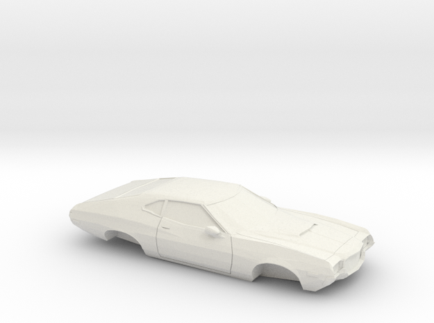 1/64 1972 Ford Gran Torino Shell in White Natural Versatile Plastic