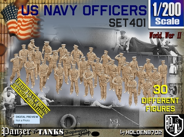 1/200 USN Officers Set401