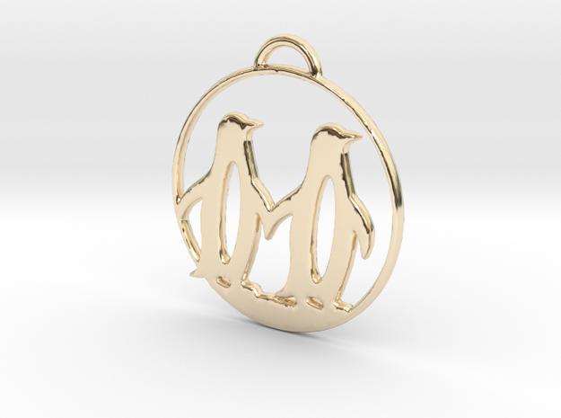 Penguins Couple H Necklace