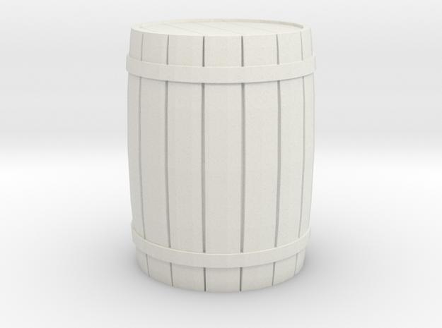 Barrel 28mm Scale in White Natural Versatile Plastic