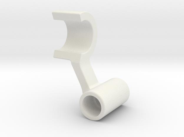 RII light LED mount left side in White Natural Versatile Plastic: 1:10