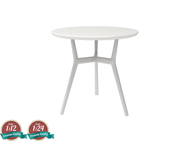 Miniature Tribu Branch Contract Table - Tribu in White Strong & Flexible: 1:24