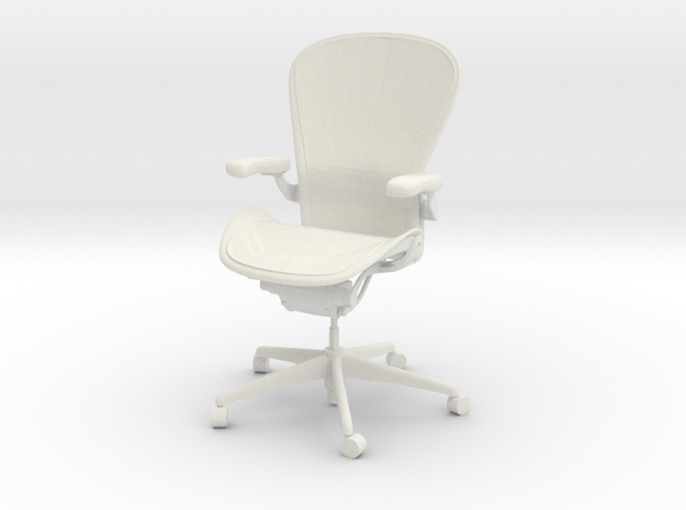 Herman Miller Aeron Chair Posturefit Support 1:6 S in White Natural Versatile Plastic