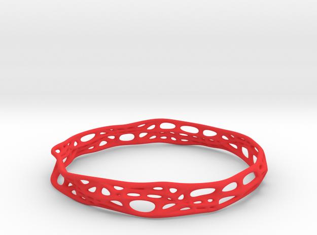 Voronoi Dodecagonal Bracelet 10mm (001) in Red Processed Versatile Plastic