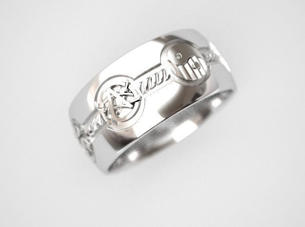 All religions ring 12s in Fine Detail Polished Silver