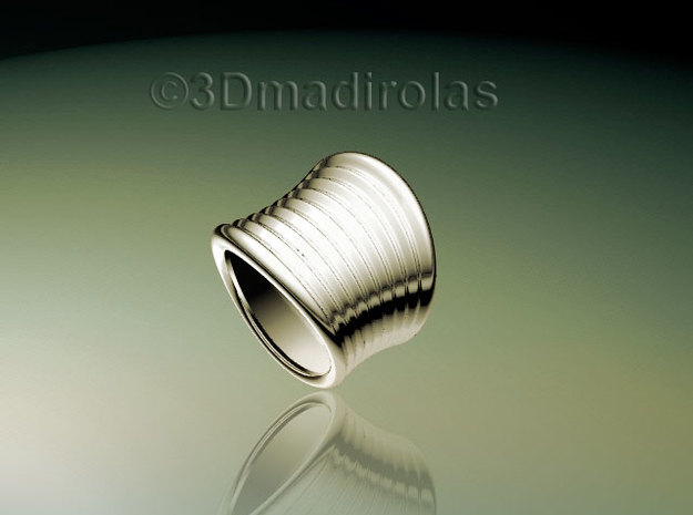 WAVY ring in Polished Silver